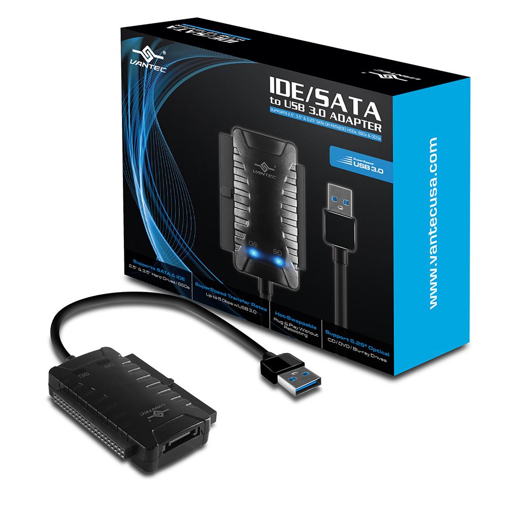 VANTEC 凡達克 IDE/SATA 轉USB 3.0 轉接器