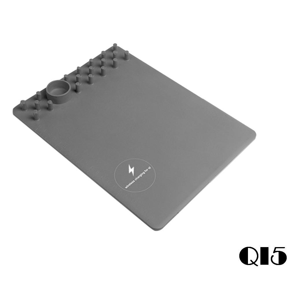 【U-ta】多功能智能無線充電滑鼠墊QI5-(通過NCC認證) - 灰色