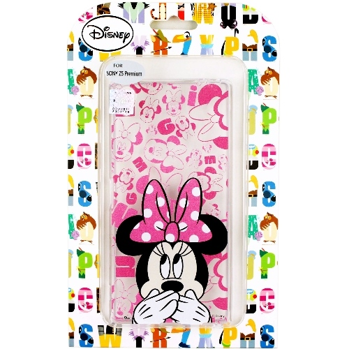 【Disney】Sony Xperia Z5 Premium 5.5吋 摀嘴系列 彩繪透明保護軟套(米妮)
