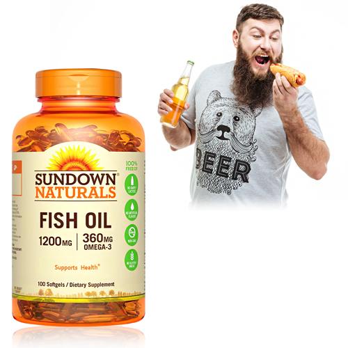 【超值優惠】Sundown日落恩賜 精萃深海魚油1200mg(100粒/瓶)