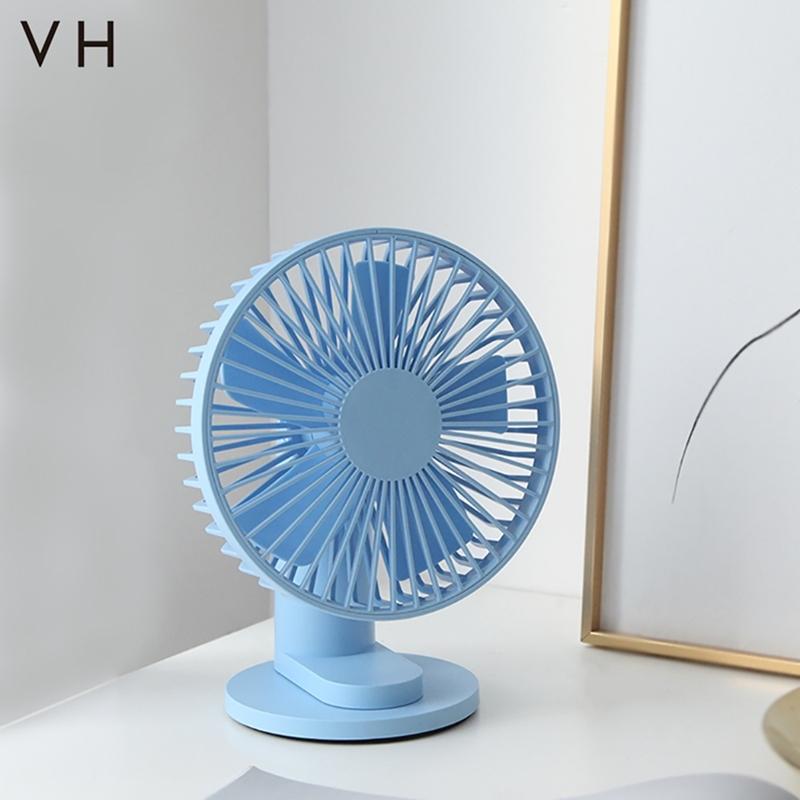 【VH】探 - 3段速5扇葉隱形桌面夾子風扇-藍