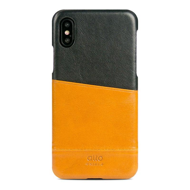 Alto|iPhone X / Xs 皮革保護殼 Metro – 焦糖棕/渡鴉黑