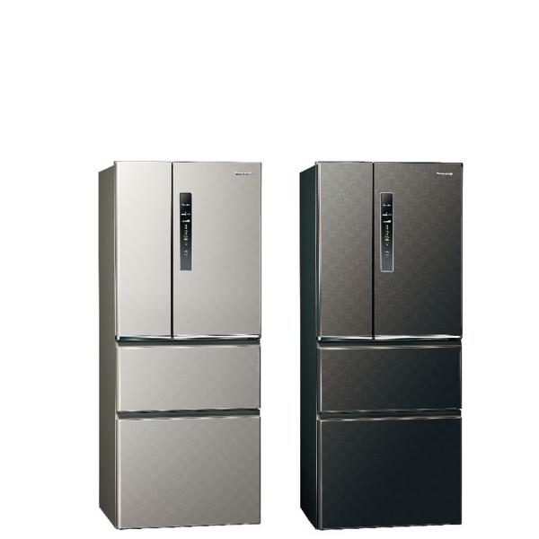 Panasonic國際牌500公升四門變頻鋼板冰箱絲紋灰NR-D500HV-L