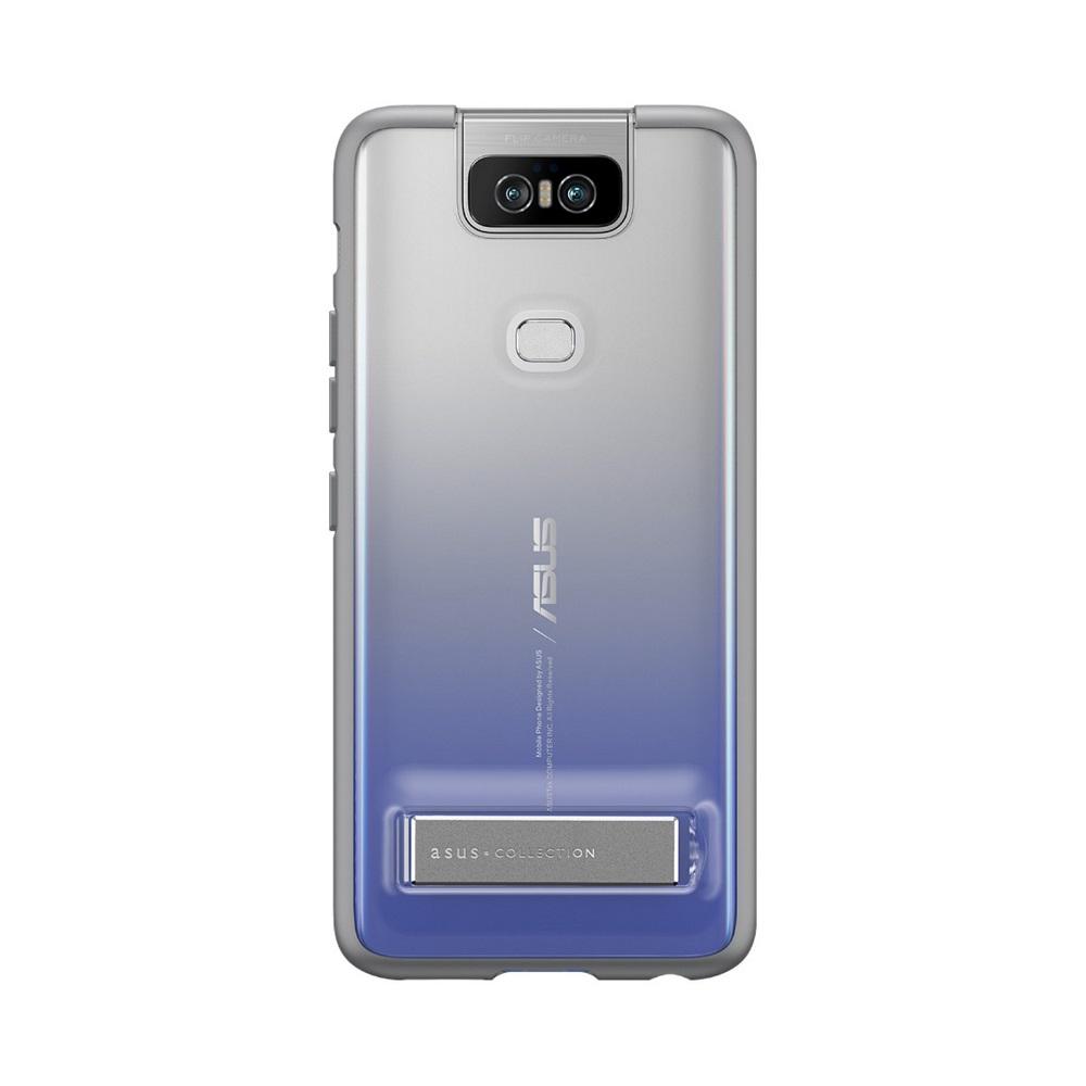 ASUS ZenFone 6 ZS630KL 立架式手機保護殼 灰