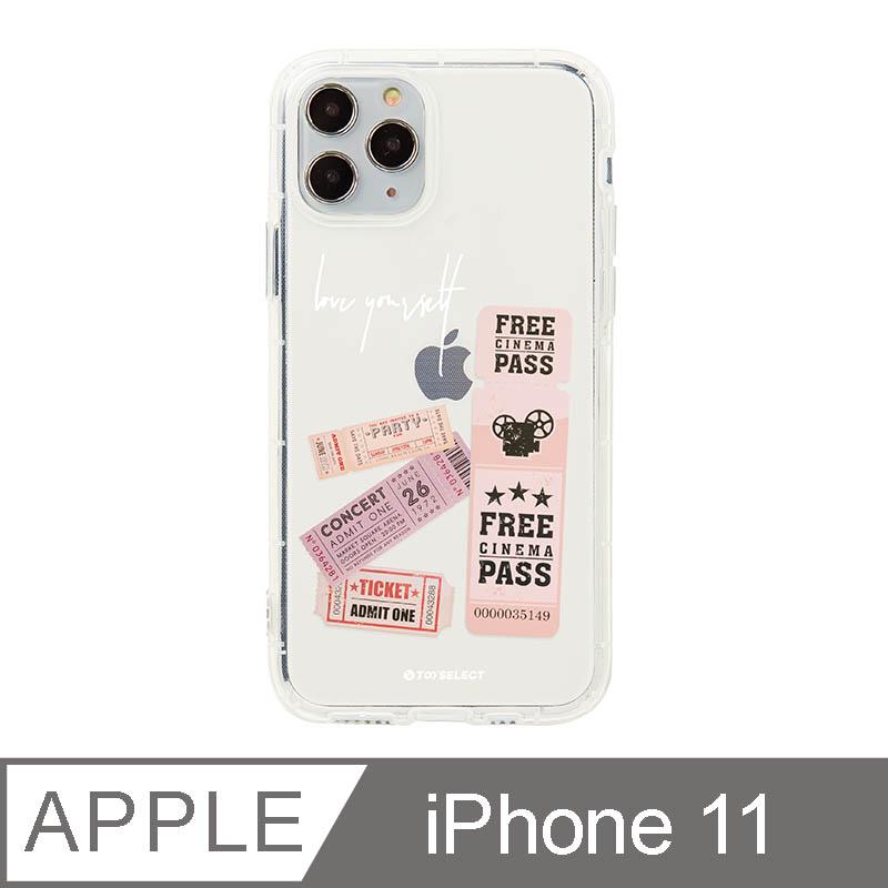 iPhone 11 6.1吋 美式粉紅票卷透明空壓iPhone手機殼