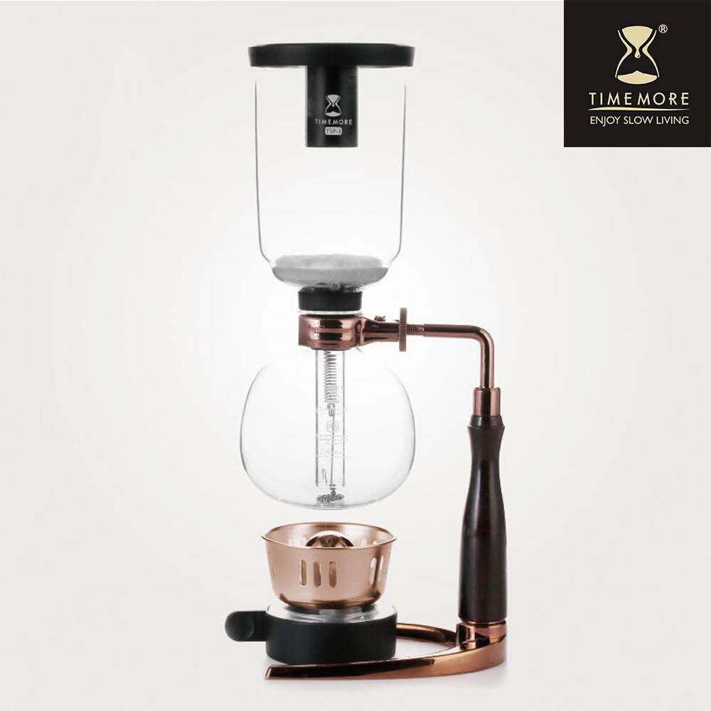 TIMEMORE泰摩XTREMOR燒不壞頂級虹吸式咖啡壺(3人份)-玫瑰金