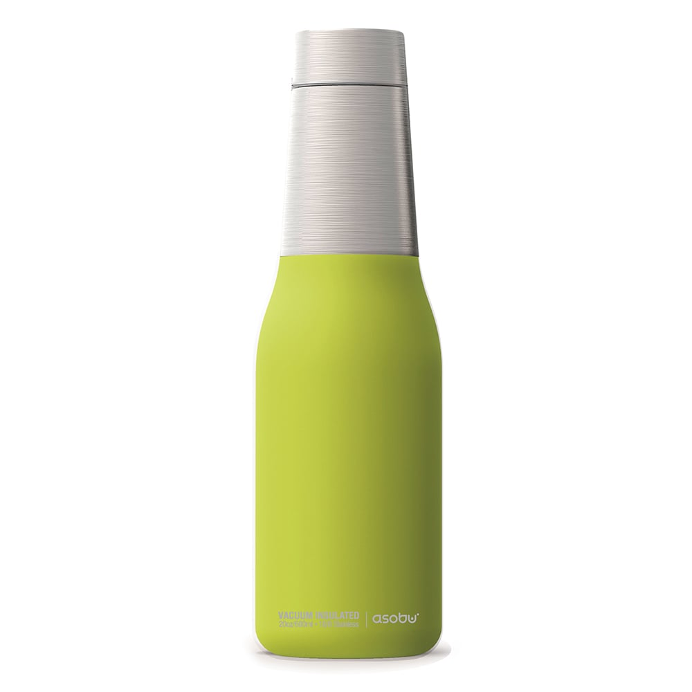 Asobu 不鏽鋼繽紛雙層保溫瓶-萊姆綠