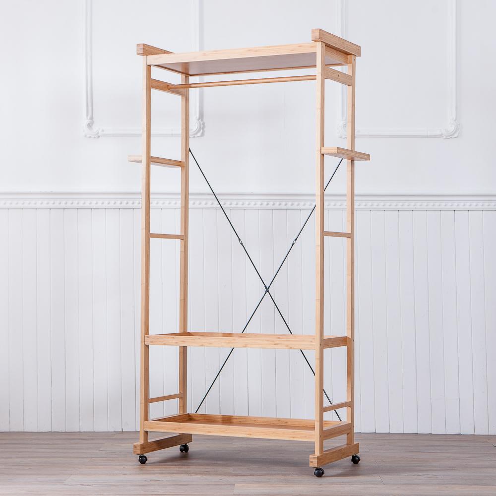 竹韻美學三層置物吊衣架-生活工場
