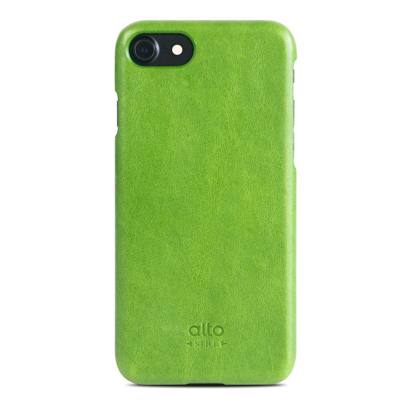 Alto|iPhone 7/8 真皮手機殼背蓋,Original(萊姆綠)