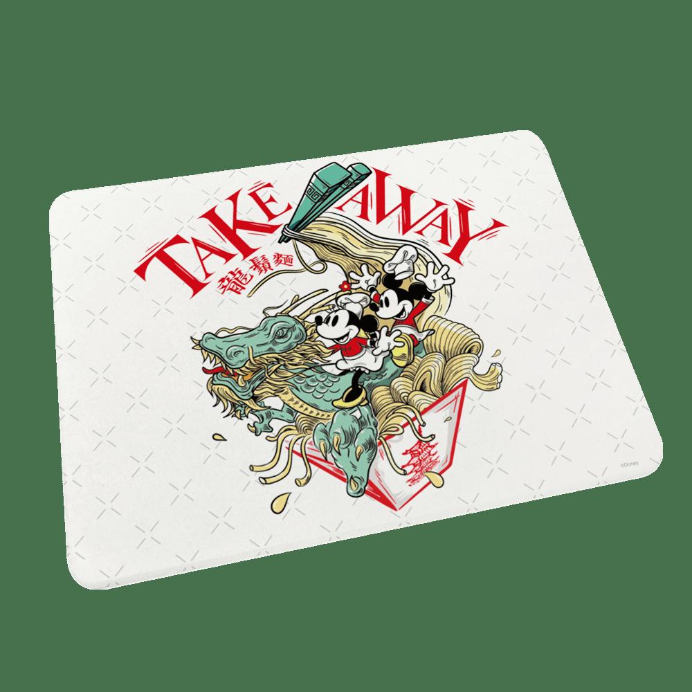 【收納王妃】米奇米妮中國風系列珪藻土餐墊(40x30x0.9)(龍鬚麵)