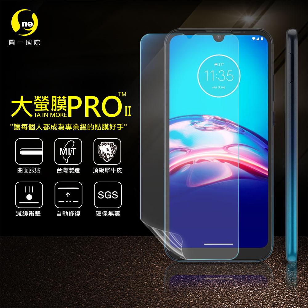O-ONE旗艦店 大螢膜PRO MOTOROLA E6S 螢幕保護貼 磨砂霧面 台灣生產高規犀牛皮螢幕抗衝擊修復膜