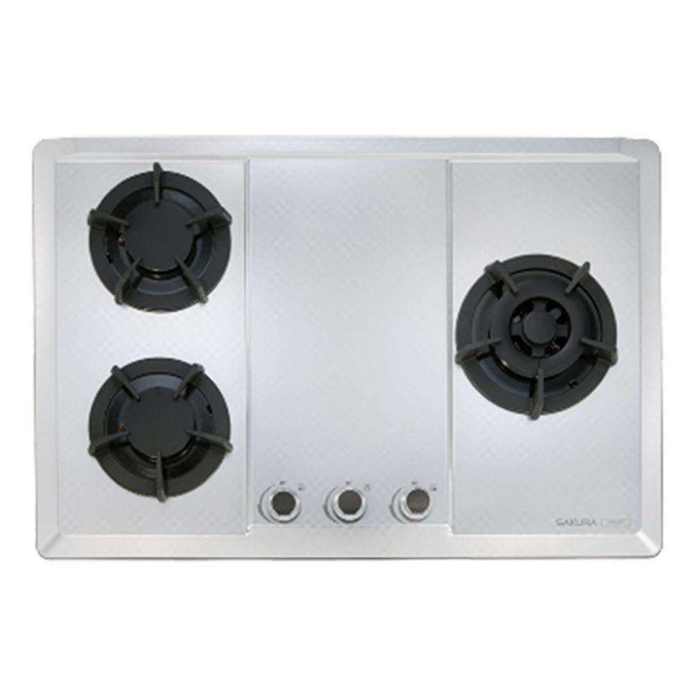 【櫻花 SAKURA】三口大面板易清檯面爐 G2633S (全台標準安裝,安裝費由現場安裝人員收取)