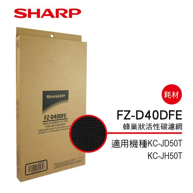 【SHARP夏普】KC-JD50T、KC-JH50T專用蜂巢狀活性碳濾網 FZ-D40DFE
