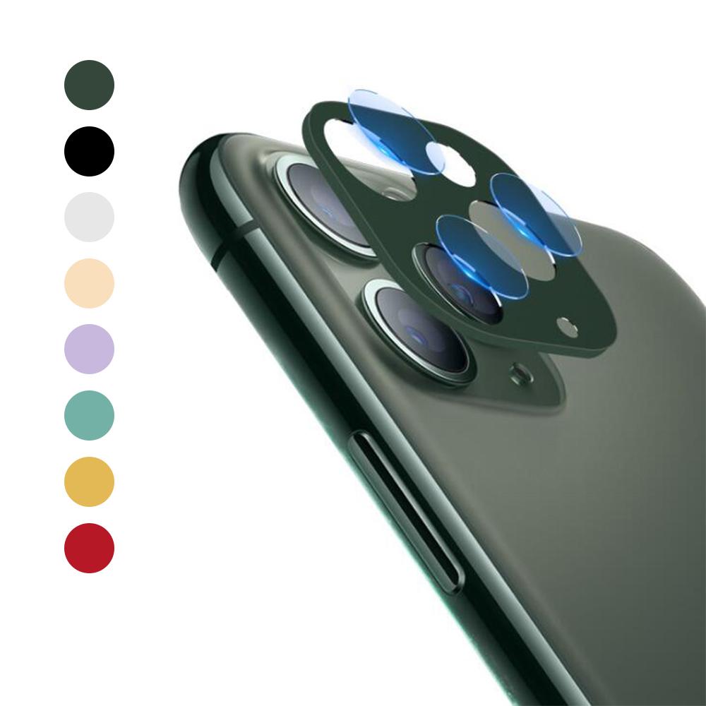 QinD Apple iPhone 11 Pro/Pro Max 鏡頭保護組(銀色)