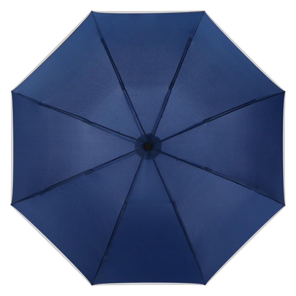 【FJ】全自動反向折疊加大伸縮雨傘(附收納帶)藍色