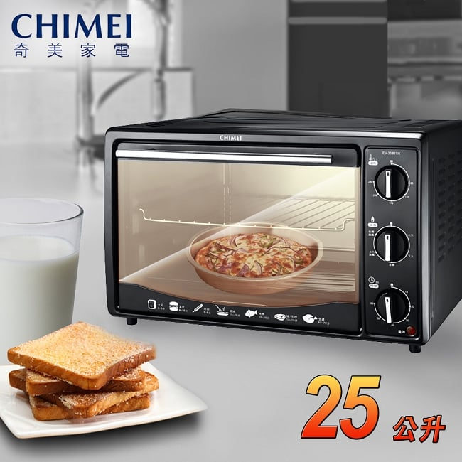 【CHIMEI奇美】25公升旋風電烤箱/EV-25B1SK