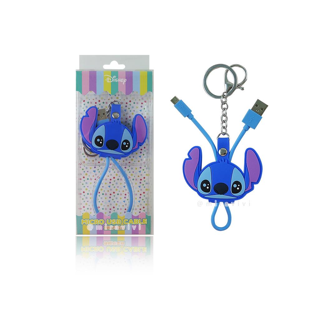 Disney迪士尼 史迪奇 Micro USB 立體傳輸線/充電線