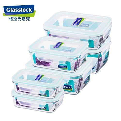 【GlassLock】強化玻璃保鮮盒-大吉利六件組