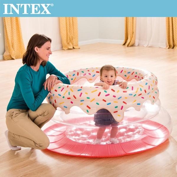 【INTEX】甜甜圈造型跳跳床/球池/遊戲床(48476)