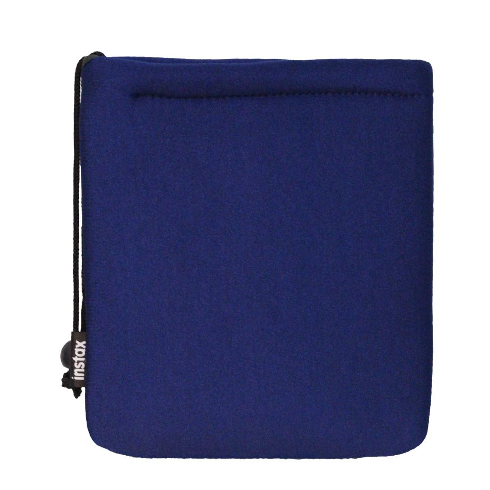 FUJIFILM instax mini 原廠拍立得軟墊袋 SOFT CUSHION POUCH_藍色