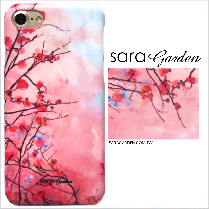 【Sara Garden】客製化 手機殼 HTC 816 漸層櫻花 手工 保護殼 硬殼