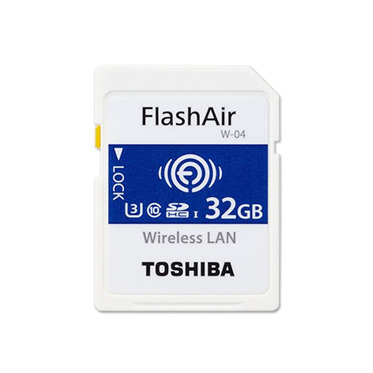TOSHIBA 32GB FlashAir Wifi SDHC Class10 無線傳輸記憶卡(W-04)