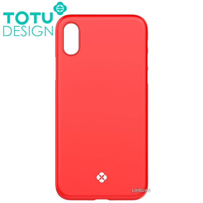 【TOTU台灣官方】iPhoneX手機殼 晶瑩系列 紅色
