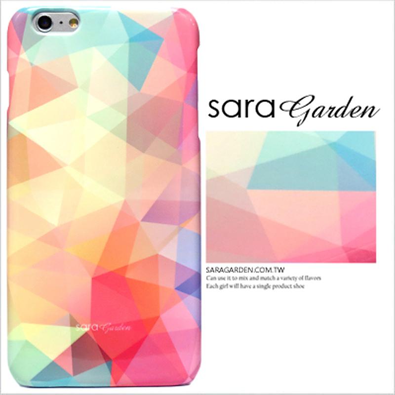 【Sara Garden】客製化 手機殼 Samsung 三星 A8Plus A8+ 2018 馬卡龍 撞色 三角 彩虹 保護殼 硬殼