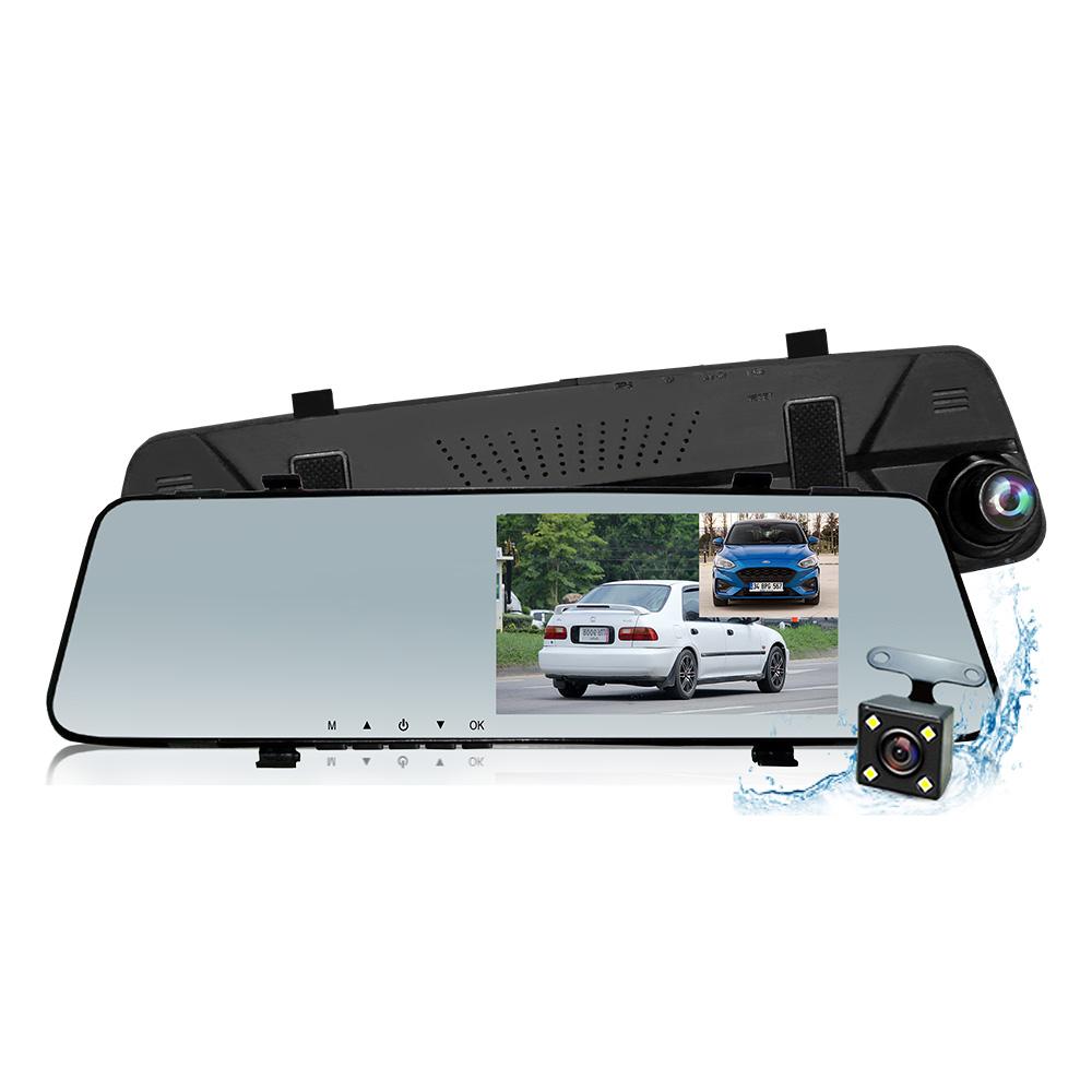 行走天下 RS074 雙鏡頭1080P後視鏡行車記錄器-加贈16G記憶卡