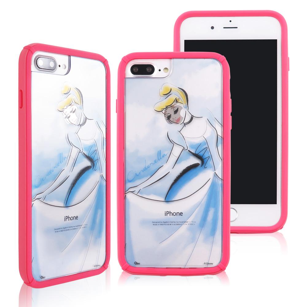 迪士尼│宙斯鎧甲 iPhone 6/6s/7/8 Plus(5.5吋)防摔殼_水彩公主 仙度瑞拉