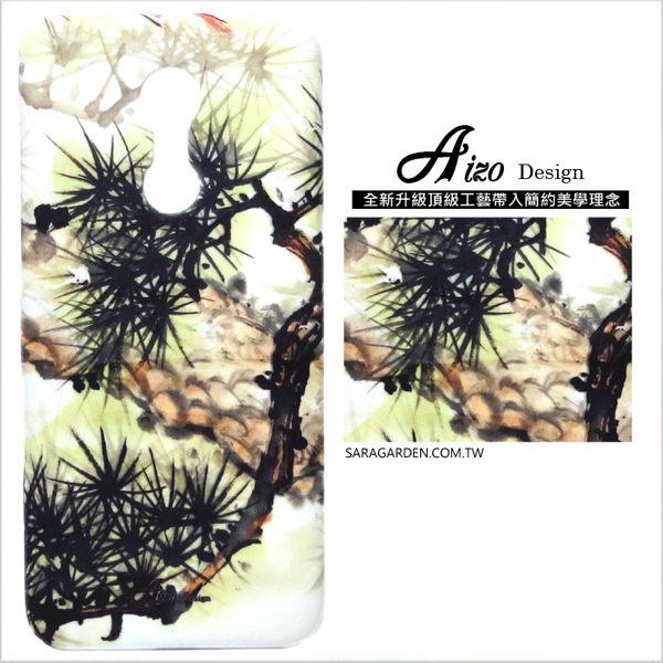 【AIZO】客製化 手機殼 Samsung 三星 A7(2018) 保護殼 硬殼 水墨質感松木