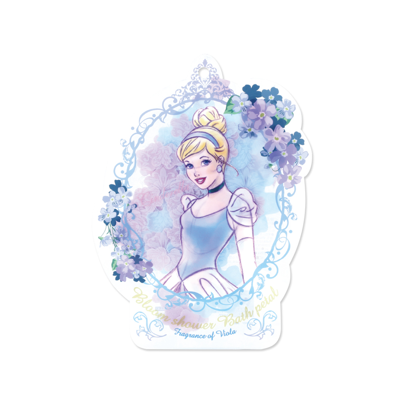 Disney迪士尼公主花瓣泡澡片-灰姑娘〈紫羅蘭香〉-1入組