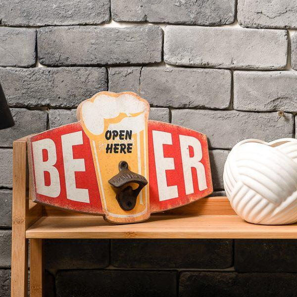 歡聚Beer開瓶掛飾30x20-生活工場