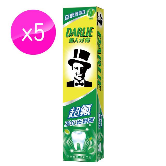黑人 超氟牙膏175g*5入組