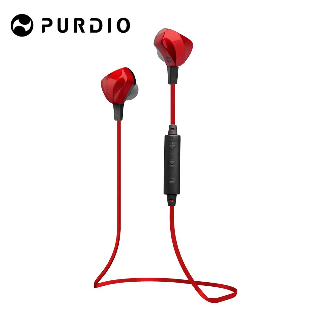 Purdio OPAL EX60藍牙無線運動耳機-寶石紅