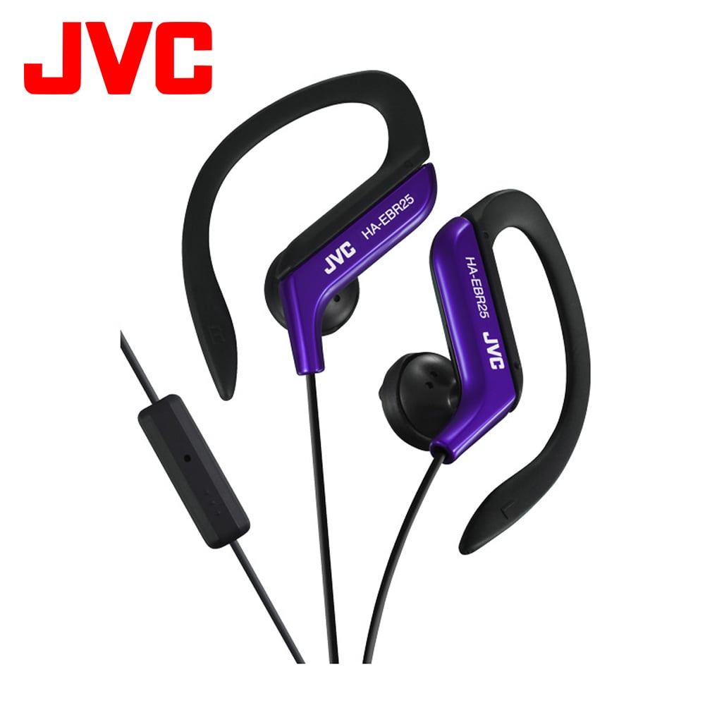 JVC HA-EBR25 運動型耳掛式耳機附通話麥克風 - 藍色