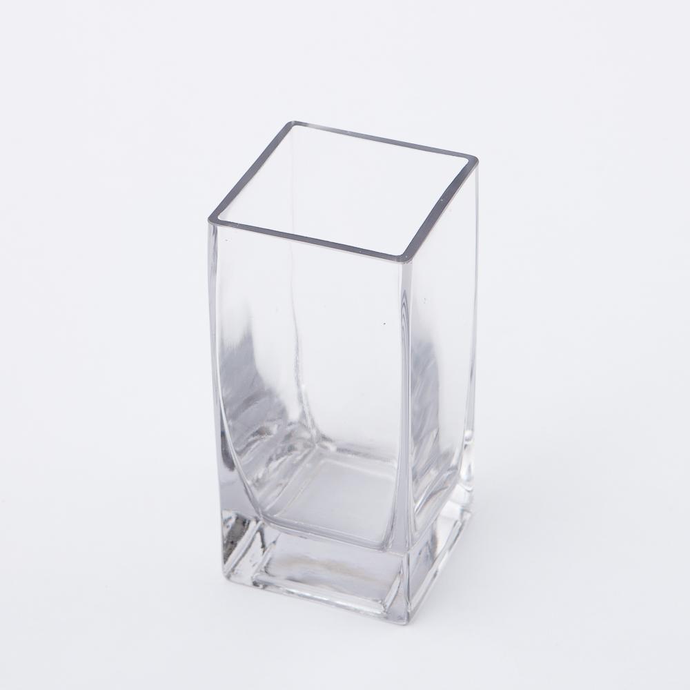 Clear直立長型手工花瓶H15cm-生活工場