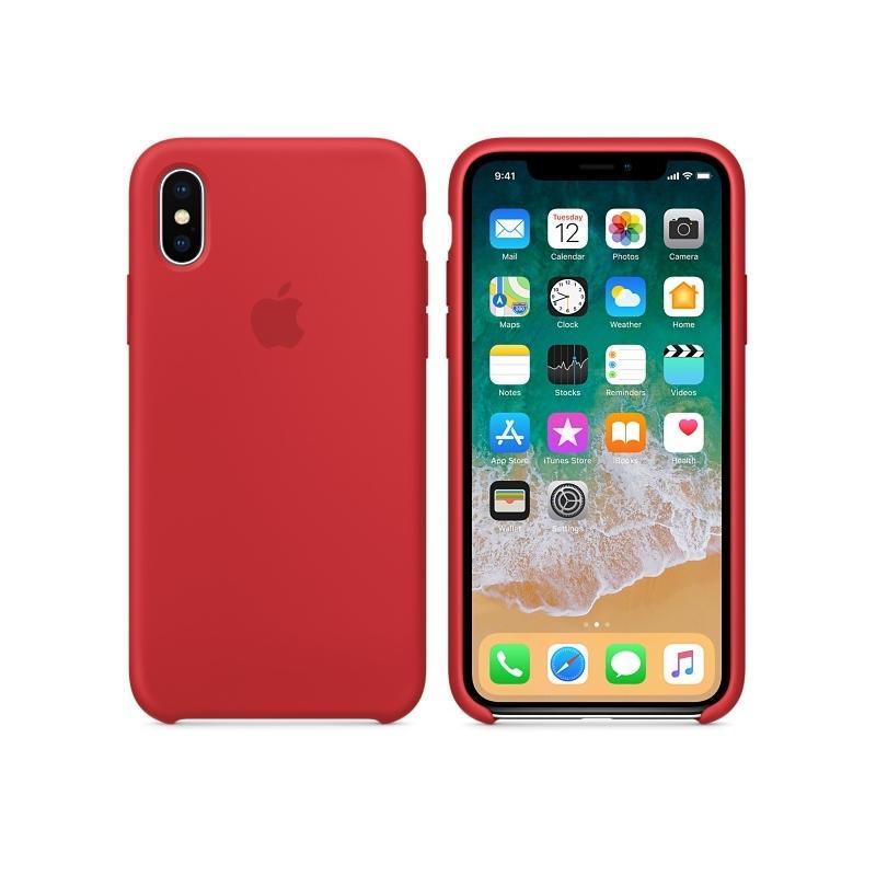 APPLE原廠 iPhoneX 原廠矽膠護套 紅