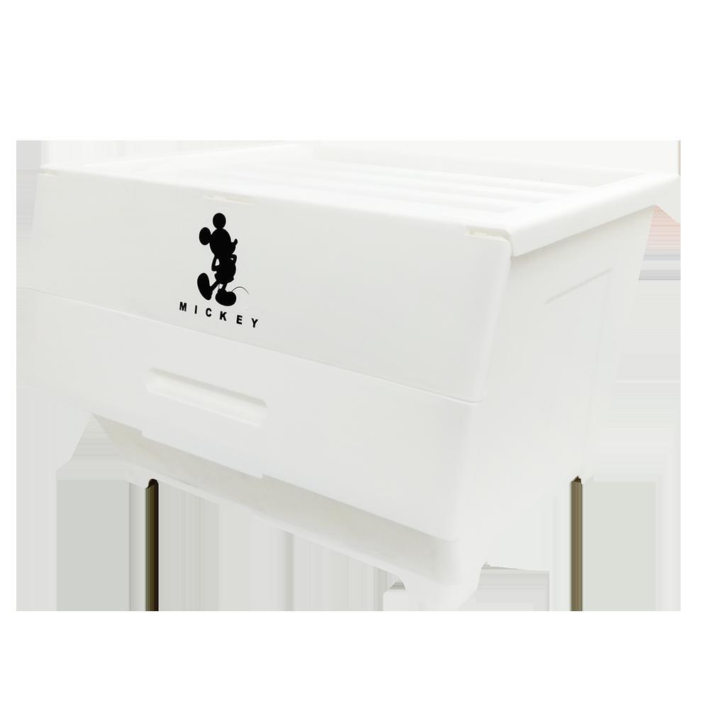 【收納王妃】迪士尼兩折掀蓋式收納箱(40L/4入組)-白