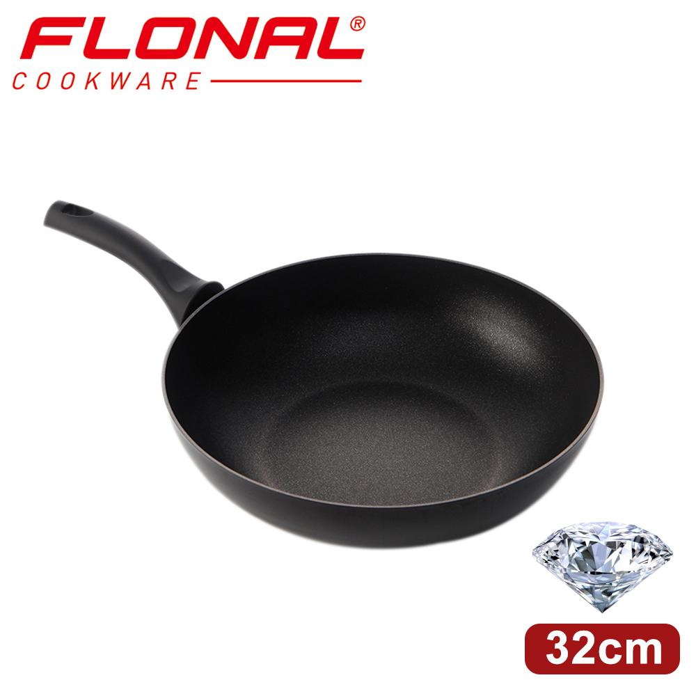 【義大利Flonal】鑽石系列不沾炒鍋(32cm)