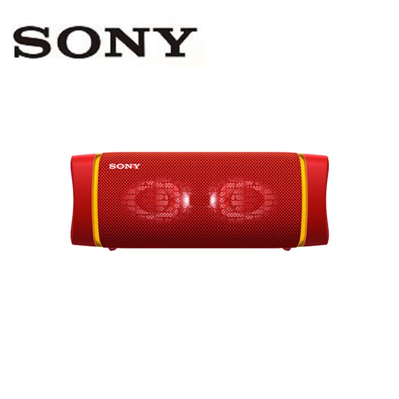 SONY 索尼 EXTRA BASS™ SRS-XB33 可攜式 防水 燈光無線 藍牙喇叭 紅色