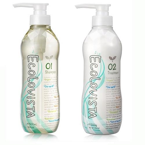 日本植寇希(Ecolovista)氨基酸植物精油(清爽豐盈)-洗髮精500ml+潤髮乳500ml