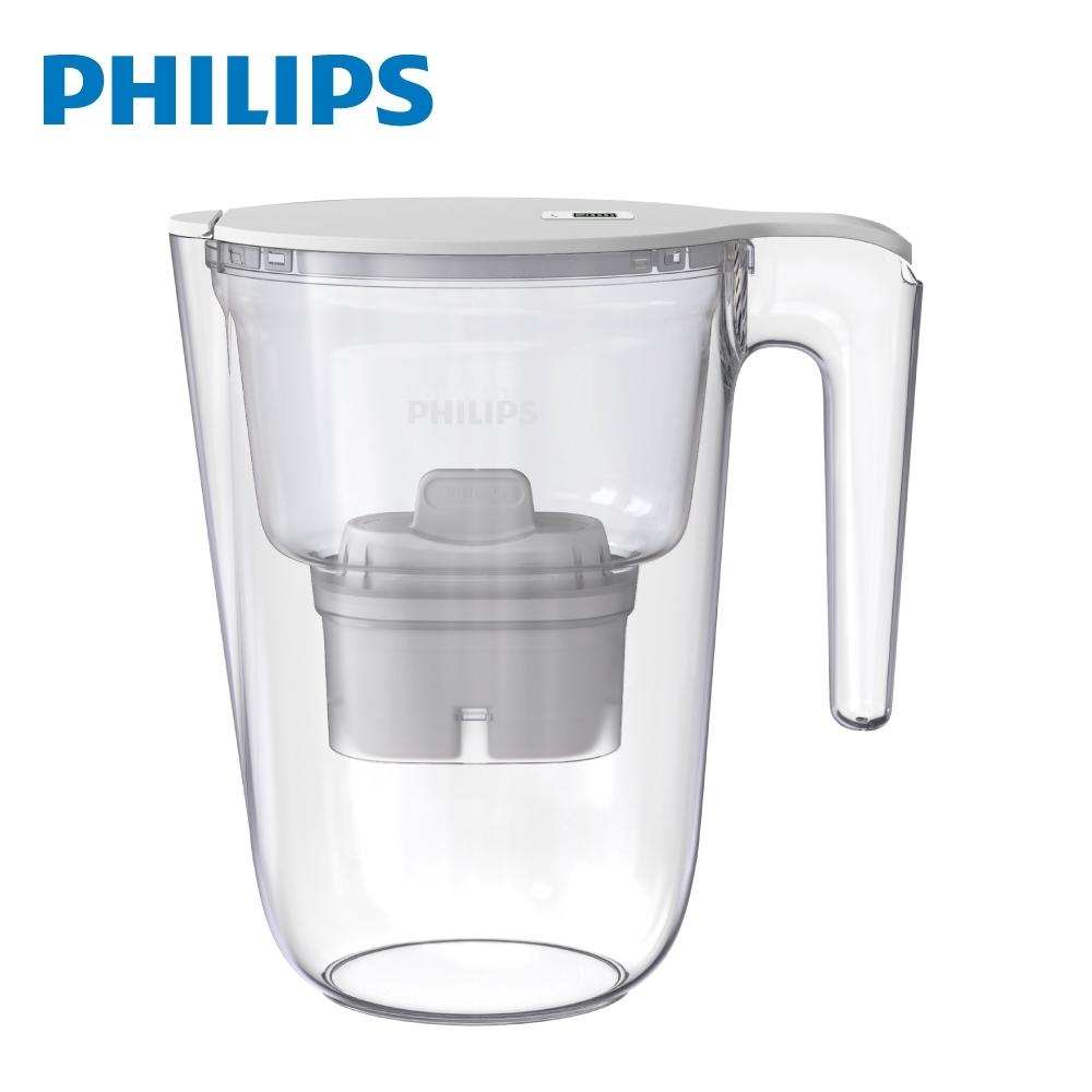 PHILIPS 飛利浦長效四重超濾帶計時器 3.4L 濾水壺 AWP2941 _白 (1壺1芯)