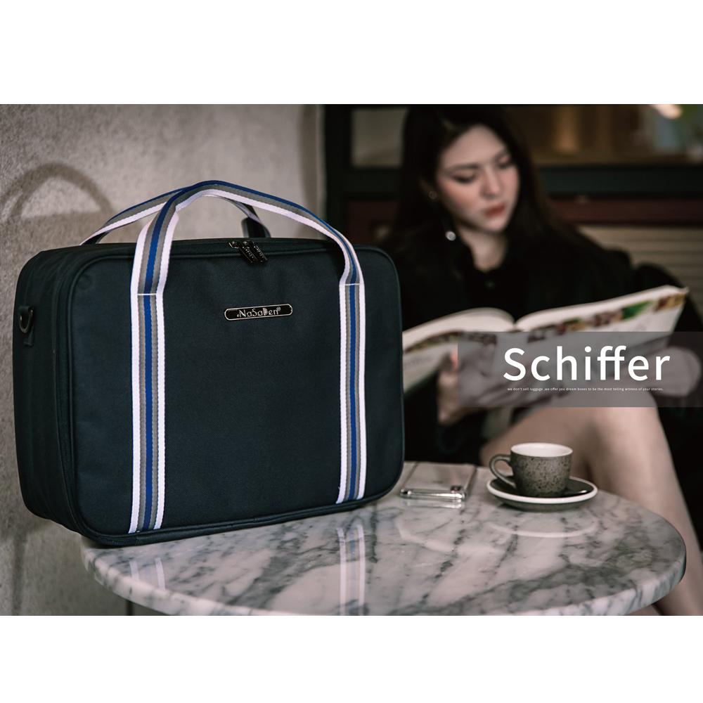 【德國品牌NaSaDen】雪佛包-肩背/手提/穿套行李箱(土耳其深藍)