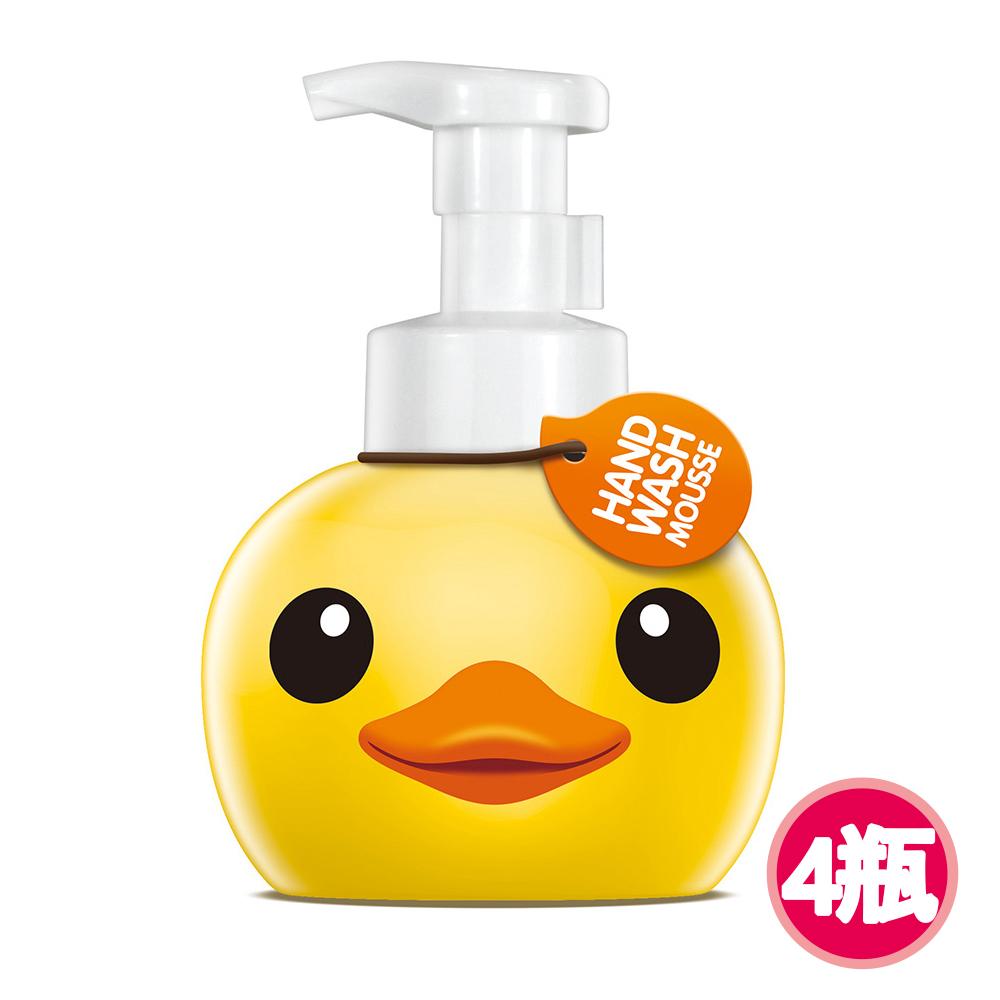 【快潔適】小黃鴨抑菌洗手慕絲-甜蜜厞香400ml*4