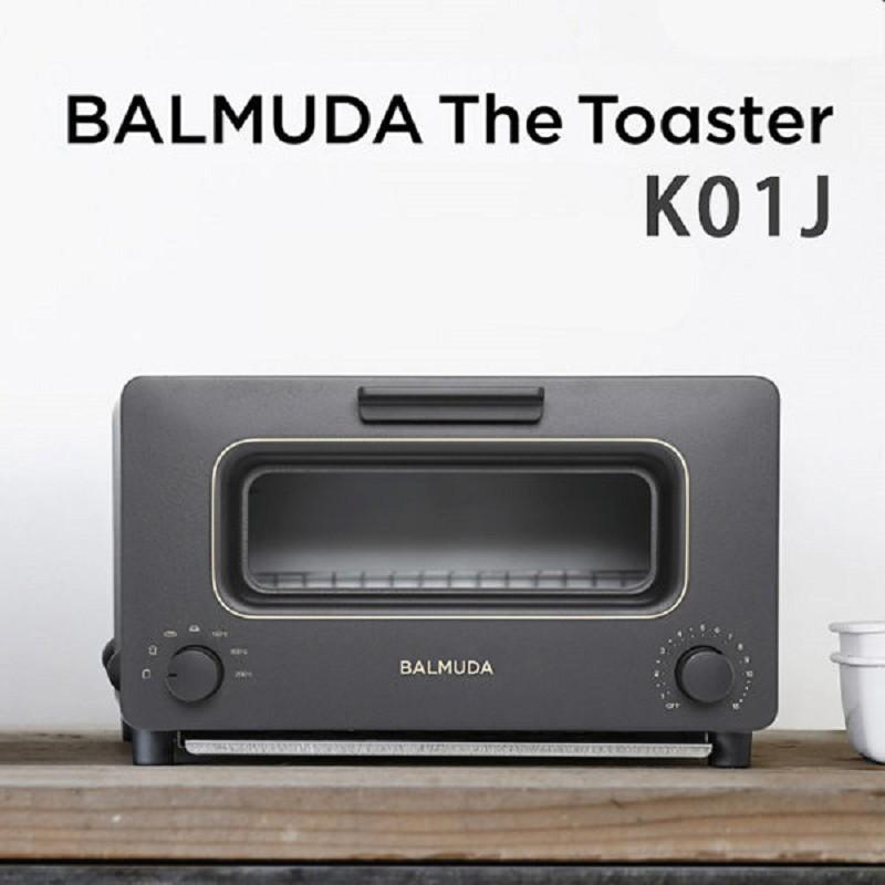 BALMUDA The Toaster K01J -黑色 蒸氣烤麵包機 蒸氣水烤箱 日本必買百慕達 公司貨 保固一年(贈原木砧板)