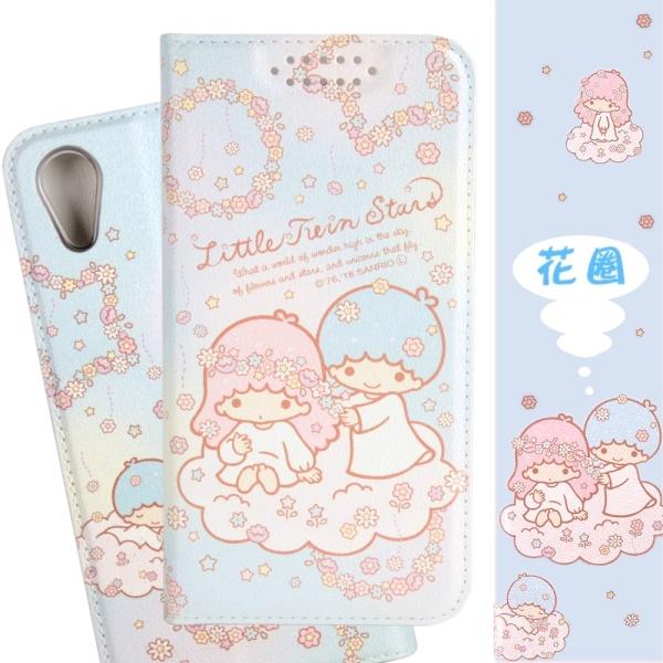 【雙子星】iPhone XR (6.1吋) 甜心系列彩繪可站立皮套(花圈款)