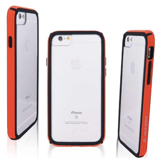 iPhone 6/ 6S/ 7/ 8 Plus (5.5吋) 波塞頓系列 耐撞擊雙料防摔殼(橘色)