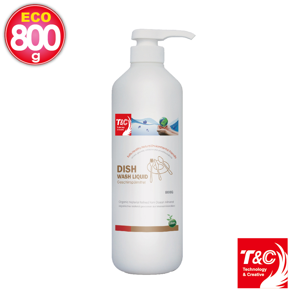 T&C海洋元素-餐具清潔乳800g(3入)
