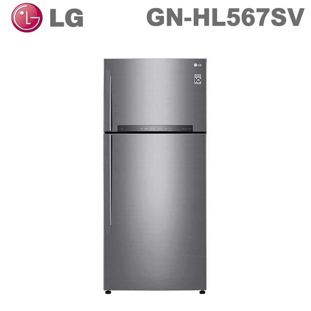 原廠好禮送★【LG 樂金】525公升直驅變頻上下門冰箱GN-HL567SV